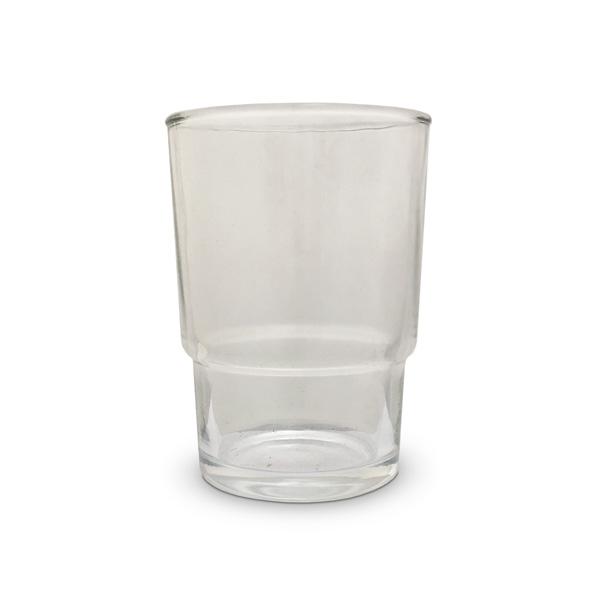 REPUESTO Vaso Vidrio Transparente / h: 9,7cm Ancho superior: 7cm Ancho inferior: 5,3cm