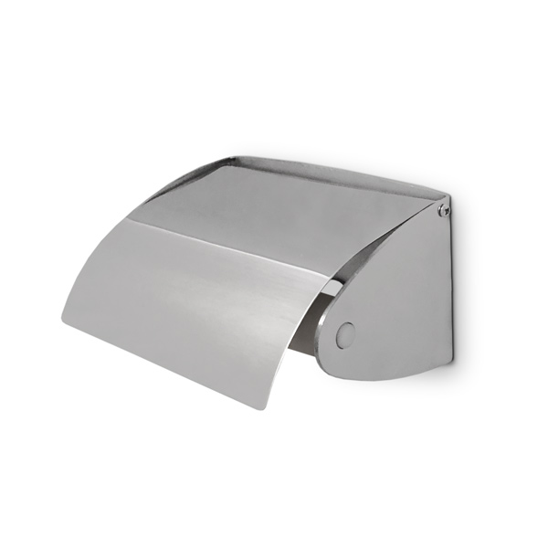 PORTARROLLO c/Tapa c/Rollete Acero 13.2cm 7.1/ 9.9cm