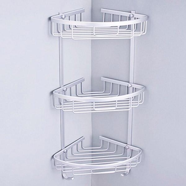 CANASTO Esquinero Triple Aluminio Anodizado 22x22 / 65cm H