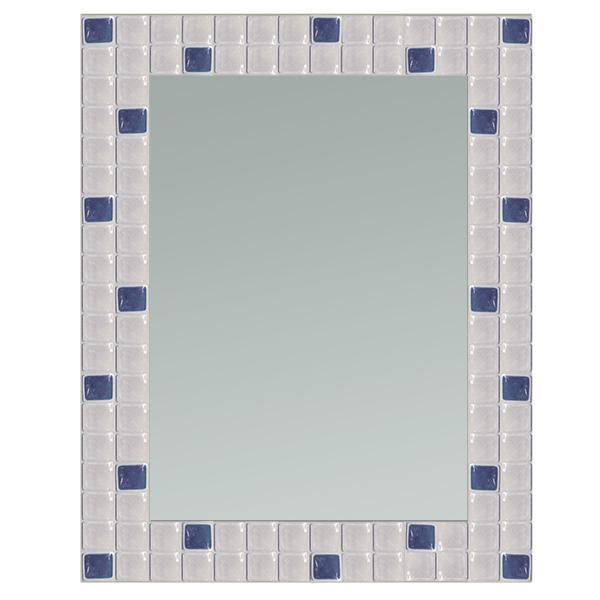 ESPEJO 60x80 Mosaico Azul. 5mm de espesor