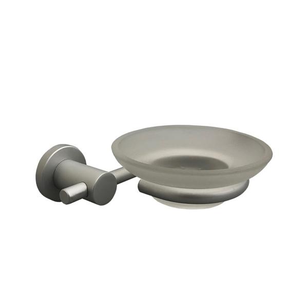 JABONERA c/Vidrio Aluminio 12.5cm*13cm / 3.2cm Ø 3.9cm