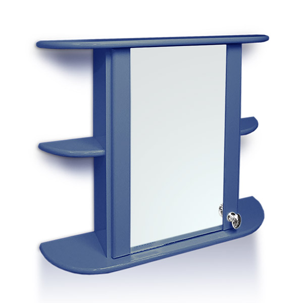 BOTIQUIN Venecia Laq. Azul Piedra 65cmx55cm h / 17cm Prof.