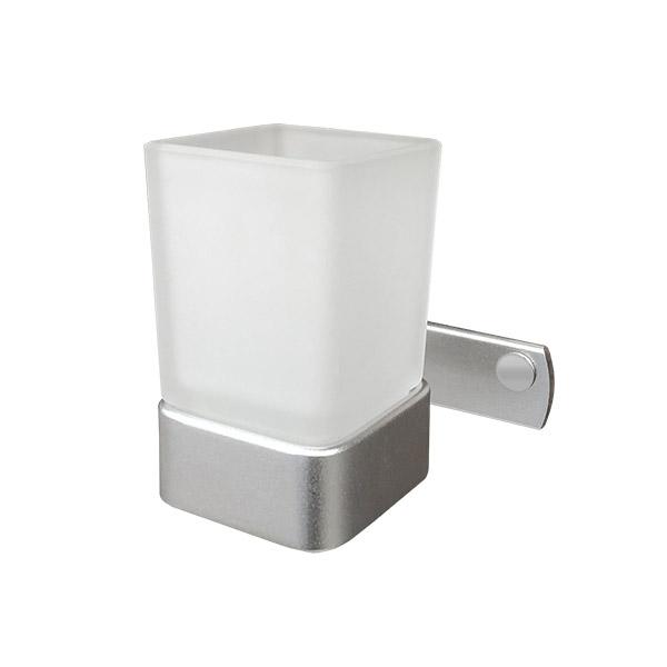 PORTACEPILLOS Simple Toronto Aluminio Natural