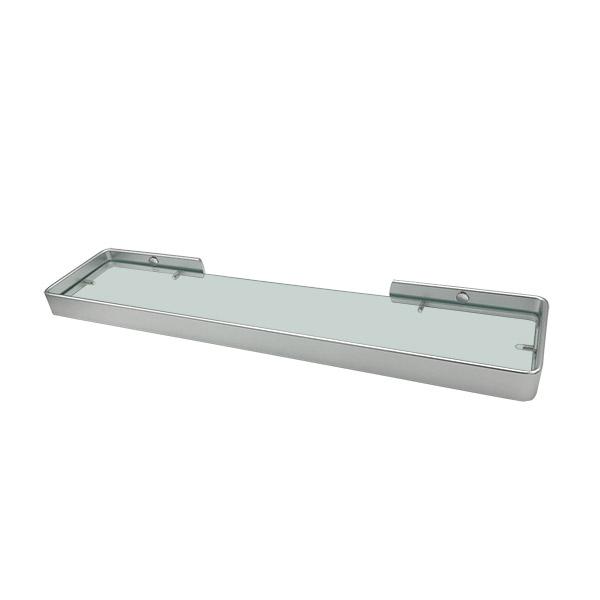 REPISA Toronto Aluminio Natural Vidrio 51x12x3cm