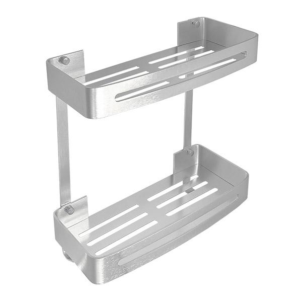 REPISA Doble Toronto Aluminio Natural 32x12.5x35cm