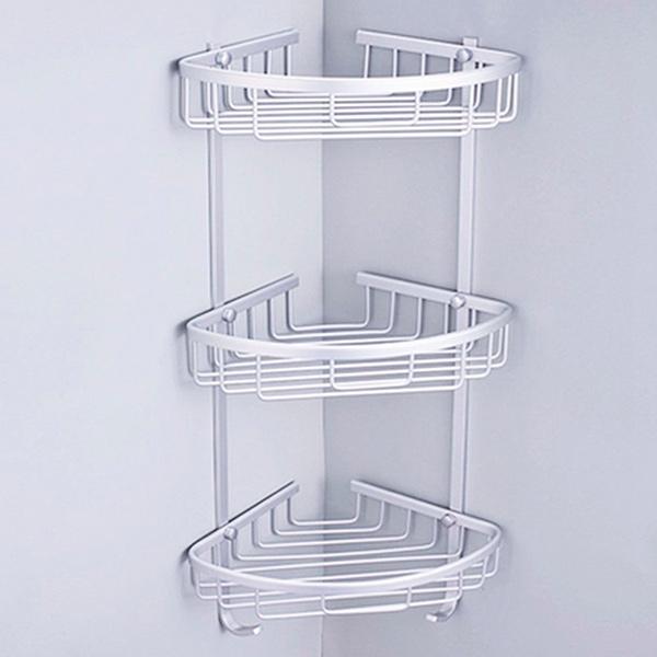 CANASTO Esquinero Triple Aluminio Anodizado 65cm / 22x22cm