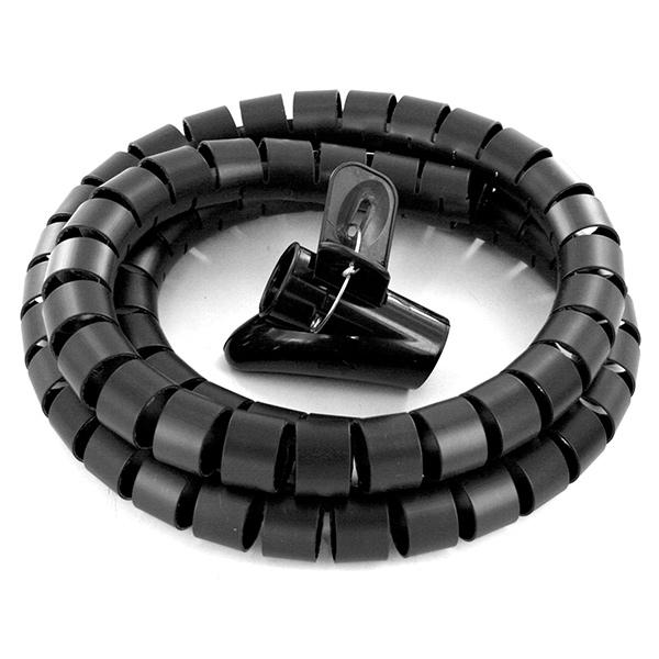 ORGANIZADOR de cables 1.5mts Negro