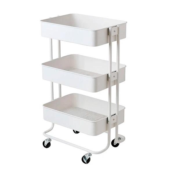 CARRITO Multiuso Blanco Metal 44.5x30.5x75cm
