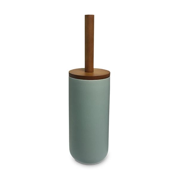ESCOBILLA Inodoro c/Soporte Ceramica Verde Claro 9Ø/ 36.5h