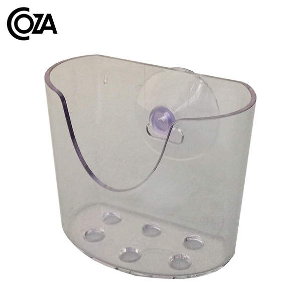 ORGANIZADOR Mini c/Ventosas Acrílico Transparente COZA 10*5.5 / 9 H