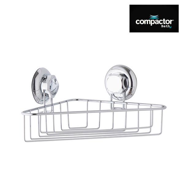 Esquinero Metal Cromado Simple c/Ventosa 24x24 /13m h