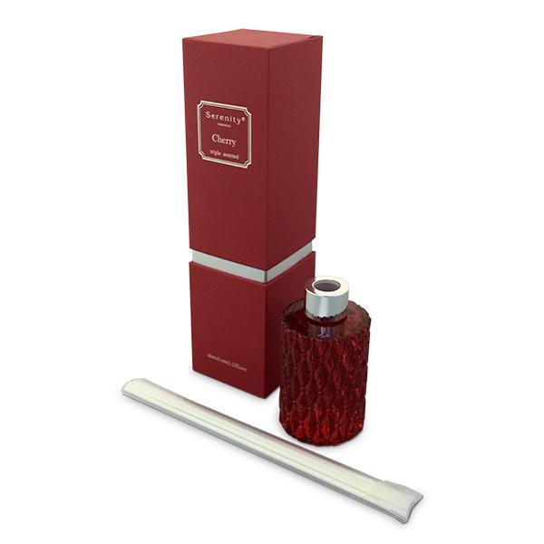 Deco. Aromatizador en caja c/Varillas Cherry