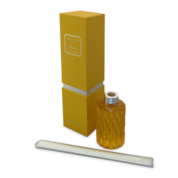 Deco. Aromatizador en caja c/Varillas Limon