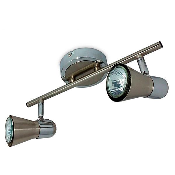 SPOT 2 Luces Sky GU10 Acero-Cromo  Ø 10cm / 31,5cm L / 14cm h