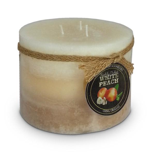 Deco. Vela Aromatica Peach Grande 12.5cm Ø / 10cm h