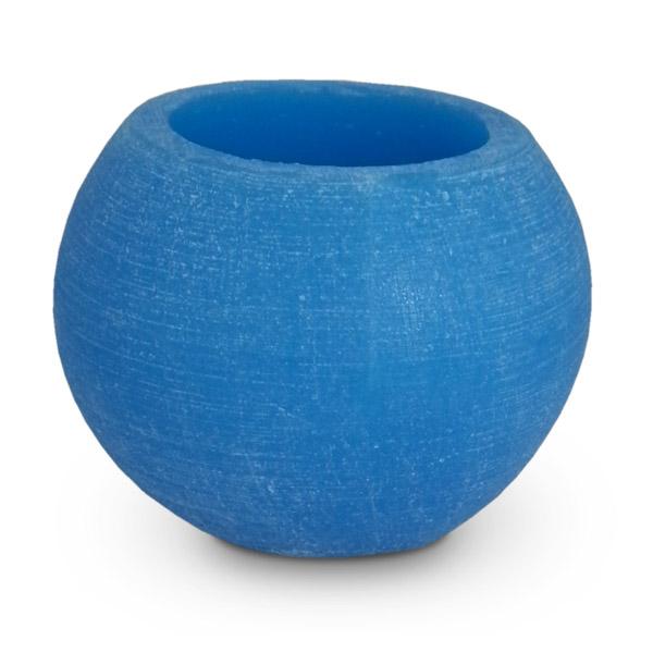 Deco. Fanal Redondo Azul c/Vela incl.  14cm Ø / 10cm h