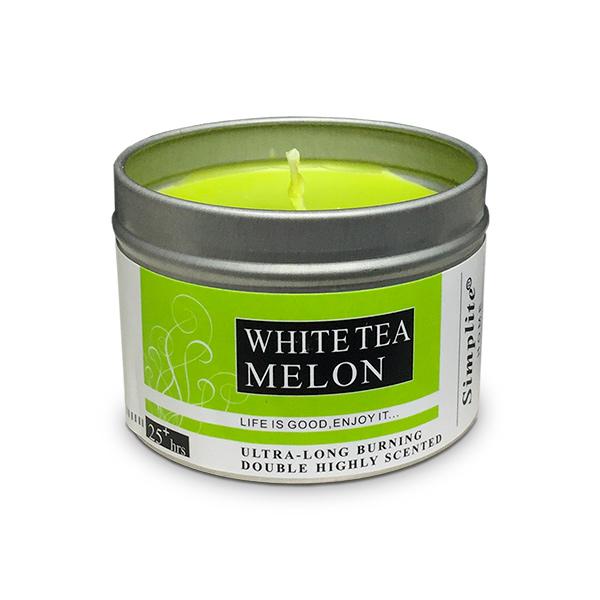 Deco. Vela Aromatica Lata c/Tapa Melon