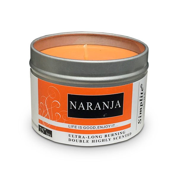 Deco. Vela Aromatica Lata c/Tapa Naranja