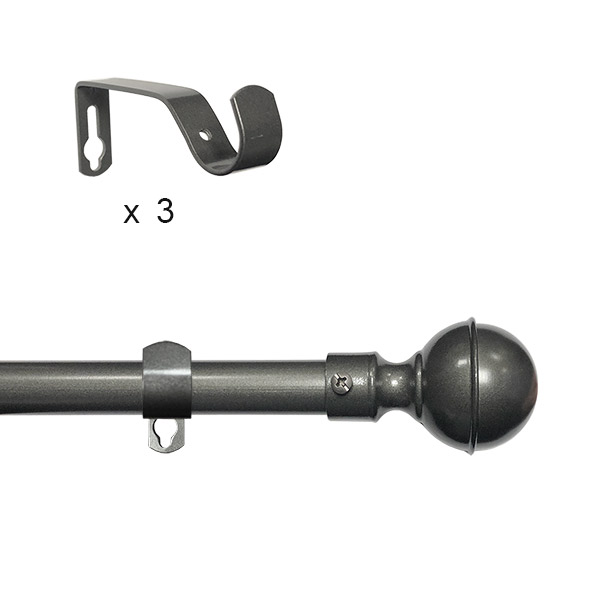 BARRAL Extensible 110-210 cm Gris Plata Bochita