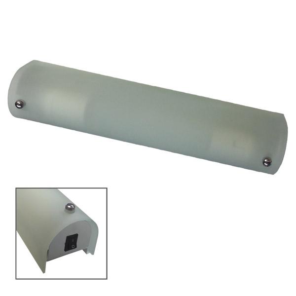 Aplique Cilindro 2 Luces E27 Vidrio c/Llave 35x7 /8cm h