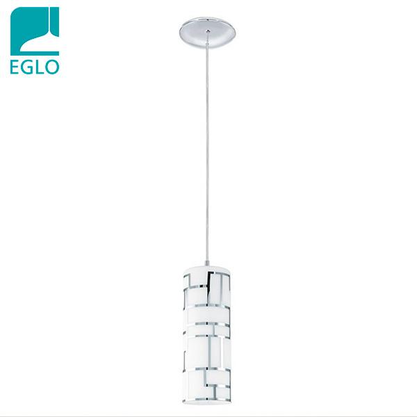 COLGANTE Bayman 1 Luz E27 Vidrio Deco Cromo EGLO 10cm Ø /110cm h