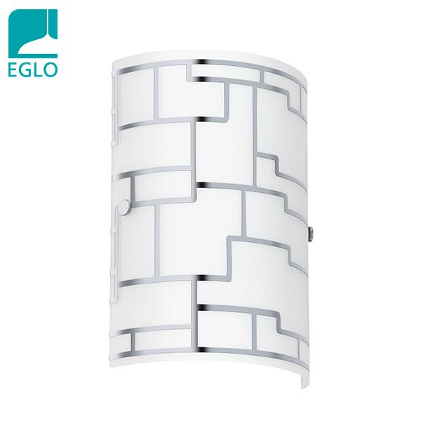 APLIQUE Bayman 1 Luz E14 Vidrio Deco Cromo 18x25cm H  / EGLO