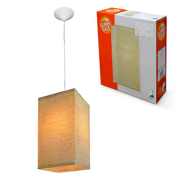 COLGANTE Eco 1 Luz E27 20x20 /40cm H EGLO