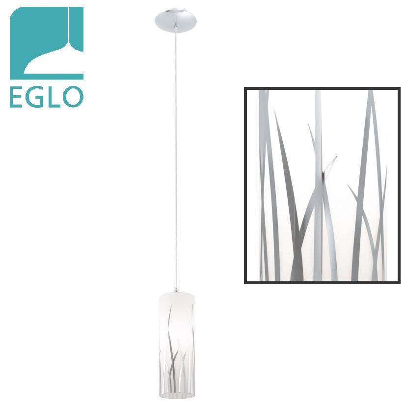 Colgante Rivato 1 Luz E27 Blanco Acero EGLO 9 cmØ / 1.10mts H