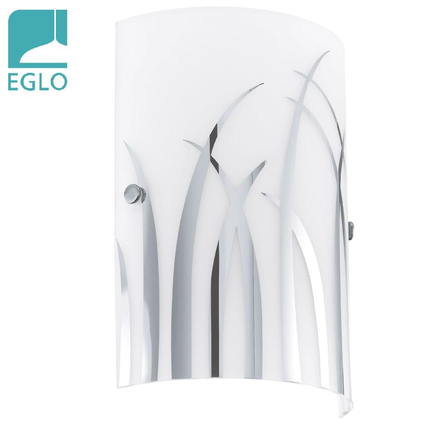 Aplique Rivato 1 Luz E14 Blanco Vidrio/Acero 18cm/25cm H EGLO