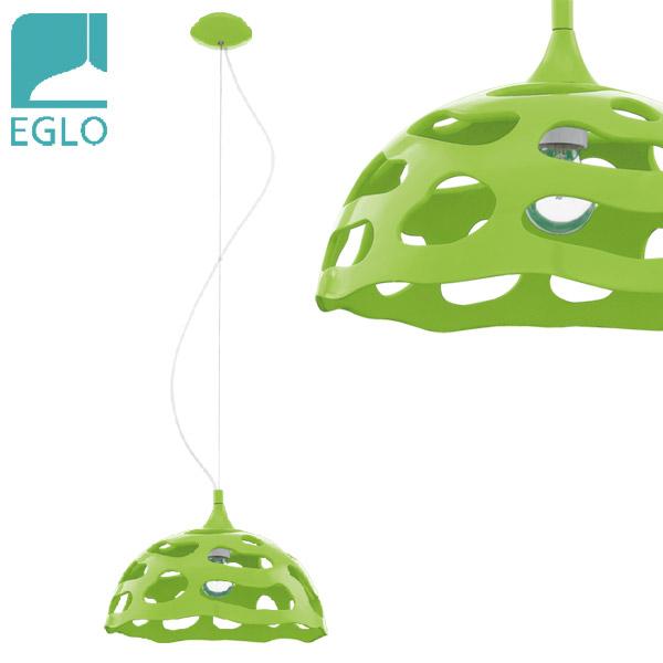Colgante Anzino 1 Luz E27 Verde EGLO Ø38cm / 110cm h