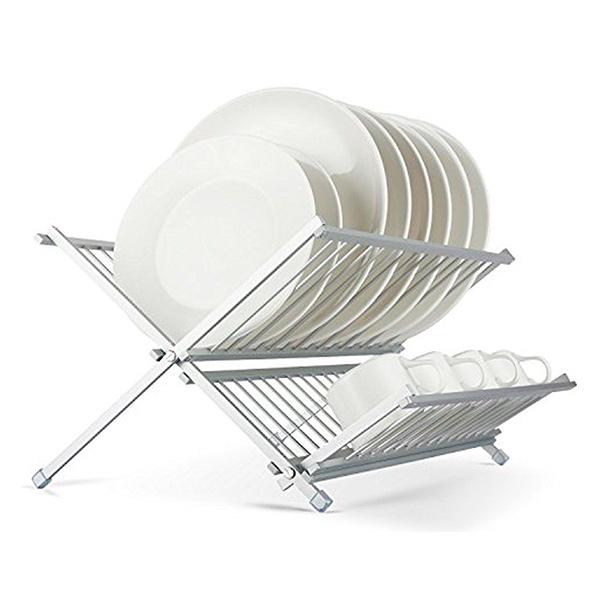Escurreplatos Aluminio Plegable 42*37cm / h 22cm