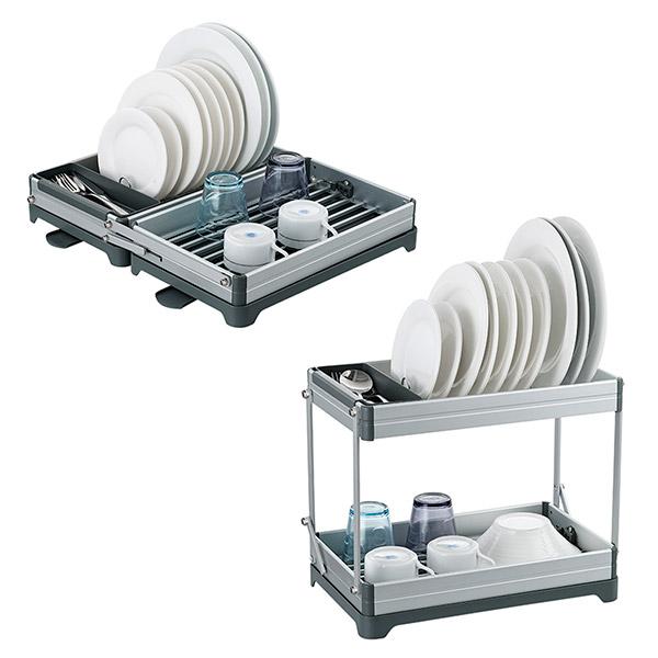 ESCURREPLATOS Aluminio 2 Posiciones 49.5cm x 43cm (extendido) 1 o 2 niveles de altura