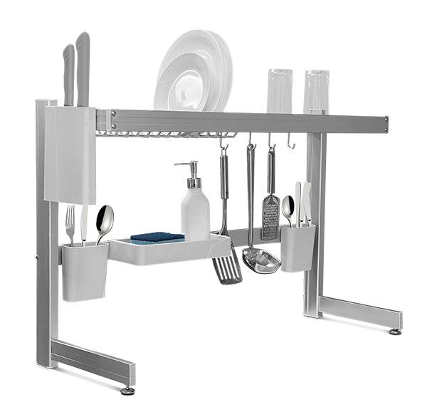 ESCURREPLATOS Aluminio Sobre Pileta 82*33/54cm H