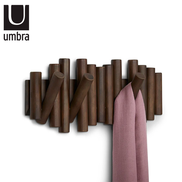PERCHERO Pared x 5 Picket UMBRA Madera Tabaco