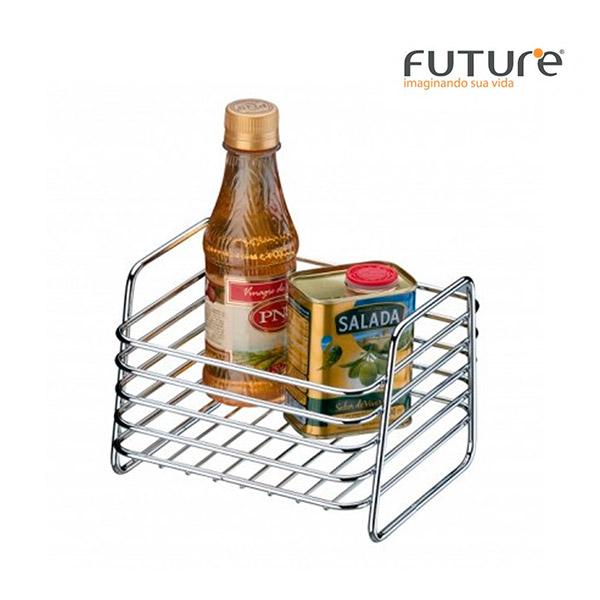 CESTO Multiuso Metal Cromado FUTURE 17x16/h=13cm