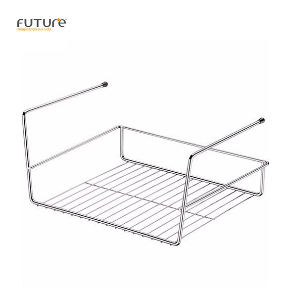 CESTA Colgante p/estantes Cromo FUTURE 29x26x17.5cm h