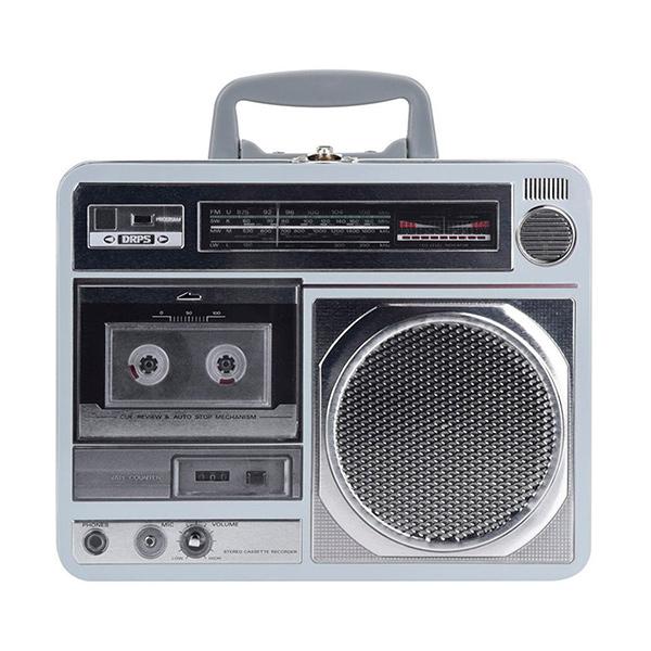 CAJA Metalica Radio Gris 22x17x28h