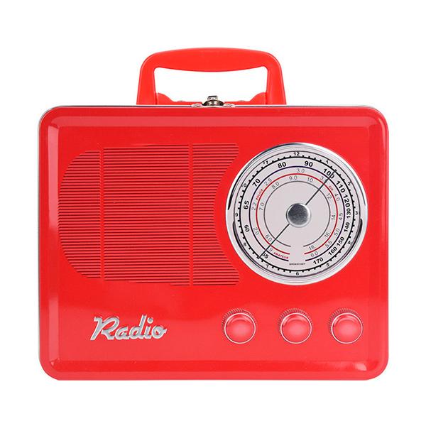 CAJA Metalica Radio Rojo 22x17x28h