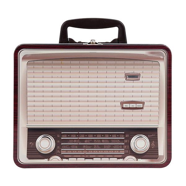CAJA Metalica Radio Bordeau 22x17x28h