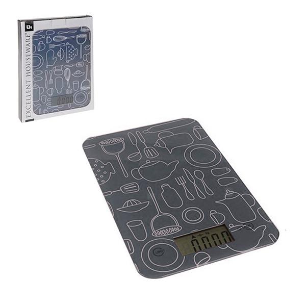 BALANZA de Cocina Digital Gris 15x23cm Max.5kg