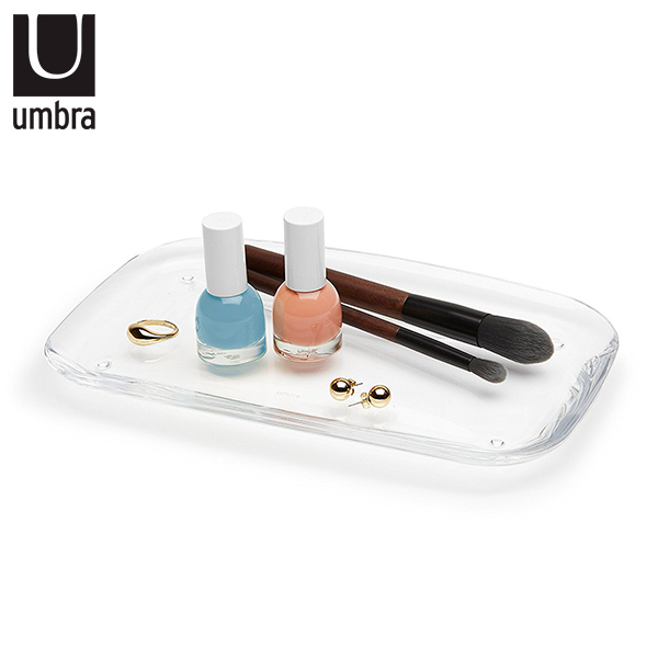 BANDEJA Baño Droplet Acrílico Transparente UMBRA 24.8 x 15.2cm