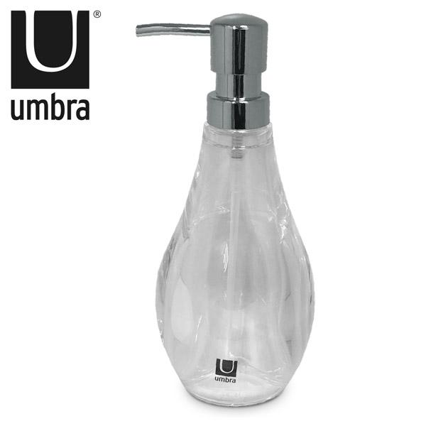DISPENSADOR Jabon Liquido Droplet Acrílico 8cm Ø /20cm h UMBRA