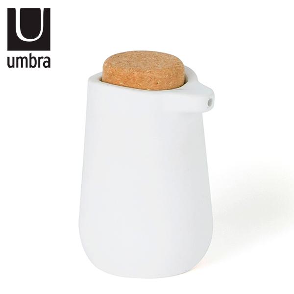 DISPENSADOR Jabon Liquido Bco/Corcho Kera Ø 9cm / h 16cm UMBRA