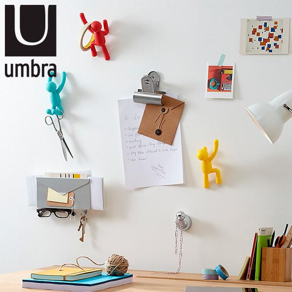 GANCHOS x 3 buddy Colores UMBRA 7.6 x 16.5 x 7.6 cm / Soporta 2.3kg c/u