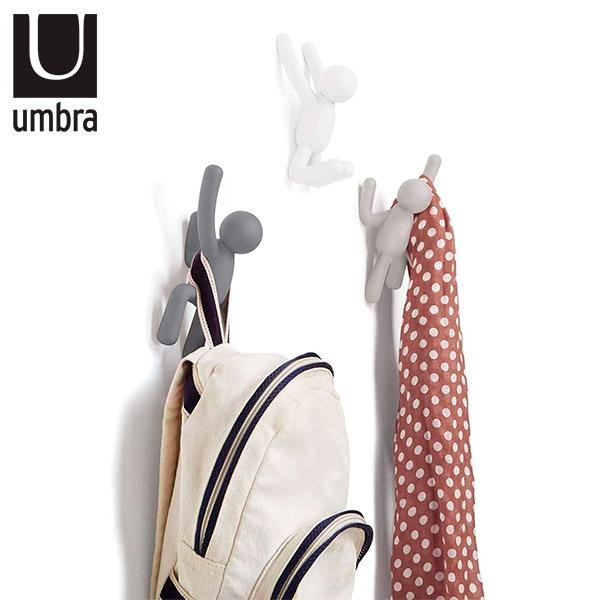 GANCHOS x 3 Buddy Bco/Gris Pastel UMBRA