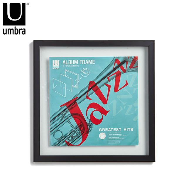 Deco Marco doble vidrio Negro UMBRA 42x42cm