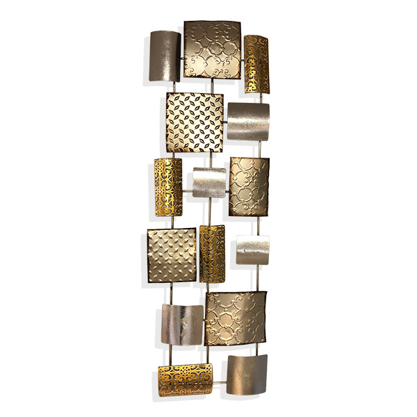 APLIQUE de Pared Texturas Oro/Plata metal 86x27cm