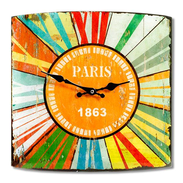 RELOJ de Vidrio Paris 34x34cm