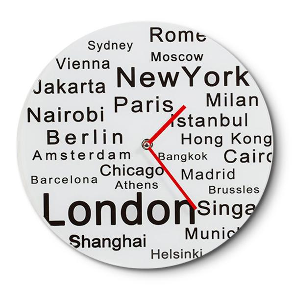 RELOJ de Vidrio London/New York Ø30cm