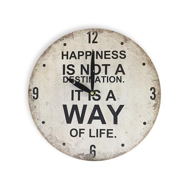 RELOJ de Pared Happiness 28cm.
